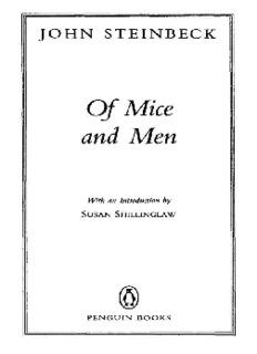 Of Mice and Men (Penguin Classics) - stjohns-chs.org