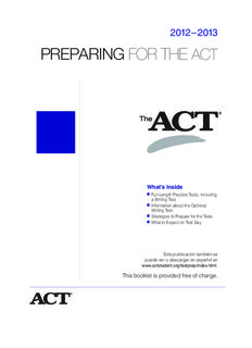 18263 Preparing ACT 2012-13 5003 AAP Prep for ACT 6/8/12 9:34 AM