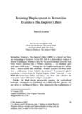 Resisting Displacement in Bernardine Evaristo's The Emperor's Babe