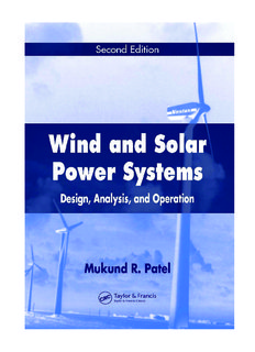 Wind and solar power systems: design, analysis, and operation