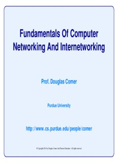 Fundamentals Of Computer Networking And Internetworking