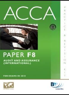 ACCA F8 Audit & Assurance BPP Exam Kit