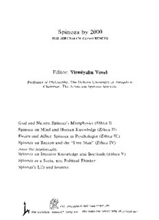 God and Nature Spinoza's Metaphysics: Spinoza's Metaphysics : Papers Presented at the First Jerusalem Conference (Ethica I (Spinoza By 2000, Vol. 1)