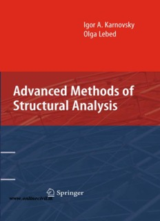 Advanced Methods of Structural Analysis - Civil Engineering