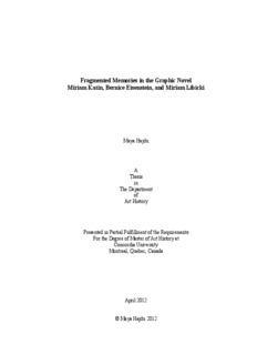 Fragmented Memories in the Graphic Novel Miriam Katin, Bernice Eisenstein, and Miriam Libicki