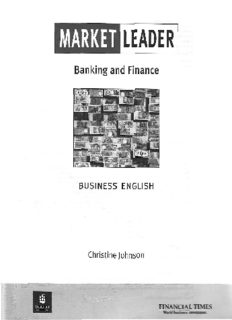 Page 1 MARKET LEADER Banking and Finance BUSINESS ENGLISH Christine Johnson till ...