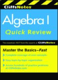 Algebra I: Quick Review, 2nd Edition (Cliffs Notes)