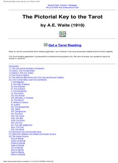The Pictorial Key to the Tarot by A.E. Waite (1910)