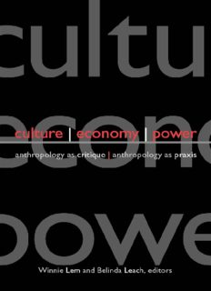 Culture, Economy, Power: Anthropology As Critique, Anthropology As Praxis (S U N Y Series in Anthropological Studies of Contemporary Issues)
