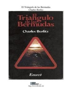 El Triángulo de las Bermudas Charles Berlitz