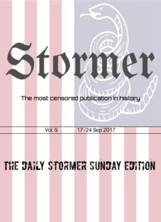 The Daily Stormer's Weekly Sunday Release