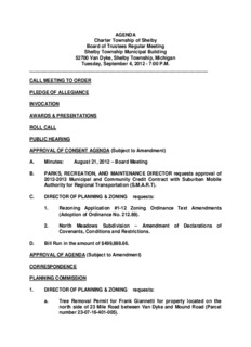 AGENDA Charter Township of Shelby Board of Trustees Regular Meeting Shelby Township ...