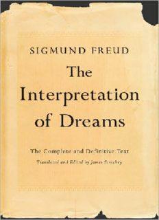 Sigmund Freud: The Interpretation of Dreams