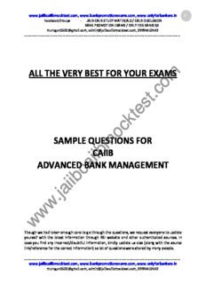 the very best for your exams sample questions for caiib advanced bank management