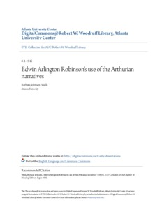 Edwin Arlington Robinson's use of the Arthurian narratives
