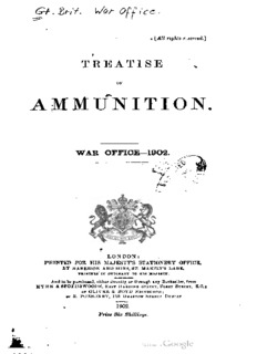 Treatise on Ammunition, 1902