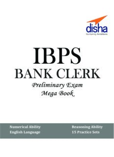 IBPS Bank clerk by Disha Publication