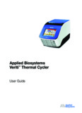 Applied Biosystems Veriti™ Thermal Cycler User Guide