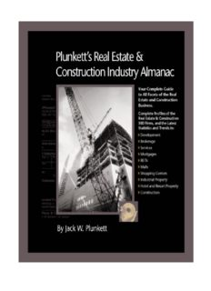 Plunkett's Real Estate And Construction Industry Almanac 2010: Real Estate & Construction Industry Market Research, Statistics, Trends & Leading Companies ... Real Estate & Construction Industry Almanac)