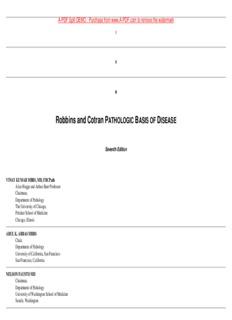 Robbins and Cotran PATHOLOGIC BASIS OF DISEASE