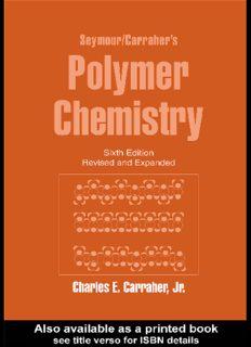 Seymour Carraher's Polymer Chemistry, 6th Edition (Undergraduate Chemistry, 16) (Undergraduate Chemistry Series)
