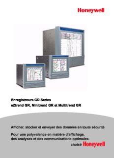 Enregistreurs GR Series eZtrend GR, Minitrend GR et Multitrend GR Afficher, stocker et envoyer ...