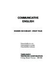 COMMUNICATIVE ENGLISH - Government of Tamil Nadu, India