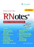 Rnotes: Nurse's Clinical Pocket Guide, Third Edition