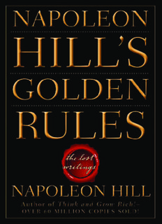 Napoleon Hill's Golden Rules - WordPress.com