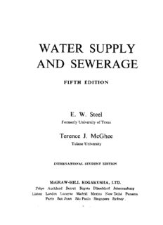 Water supply and sewerage (McGraw-Hill series in water resources and environmental engineering)
