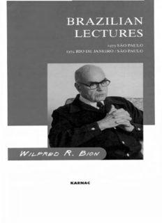 Brazilian Lectures: 1973 Sao Paolo, 1974 Rio de Janeiro/Sao Paolo