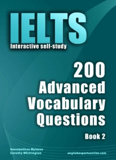 IELTS Interactive self-study: 200 Advanced Vocabulary Questions/ Book 2. A powerful method to learn the vocabulary you need.