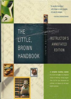 Little, Brown Handbook, The (10th Edition) (MyCompLab Series) Instructor's Annot