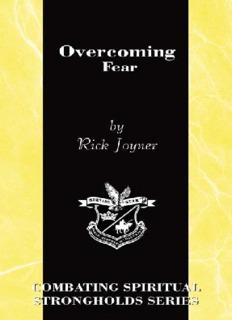 Overcoming Fear - Rick Joyner.PDF