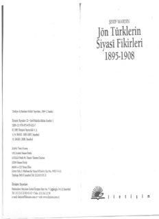 Jön Türklerin Siyasi Fikirleri: 1895 - 1908