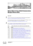 Release Notes for Cisco Unified Communications Manager Release 8.6(2a)