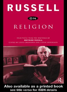 Russell on religion: selections from the writings of Bertrand Russell