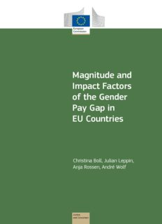 Magnitude and Impact Factors of the Gender Pay Gap in EU Countries
