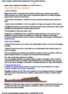 Matérias > Geografia > Geografia do Brasil > Geografia Física > Relevo Continental e Submarino