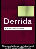 Jacques Derrida: Writing and Difference - Web del Profesor