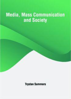 Media, Mass Communication and Society