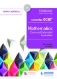 Cambridge IGCSE® Mathematics Core and Extended
