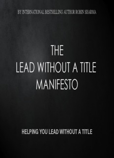 THE LEAD WITHOUT A TITLE MANIFESTO - Robin Sharma