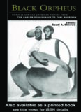 Black Orpheus: Music in African American Fiction from the Harlem Renaissance to Toni Morrison