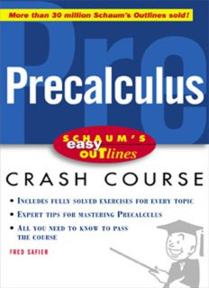 Precalculus: based on Schaum's Outline of precalculus by Fred Safier