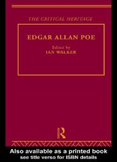 Edgar Allan Poe : The Critical Heritage (Critical Heritage)