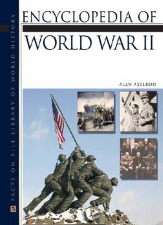 Encyclopedia of World War II (Facts on File Library of World History)