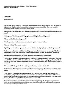 HARDY BOYS #050 – DANGER ON VAMPIRE TRAIL FRANKLIN W. DIXON CHAPTER I Sporty ...
