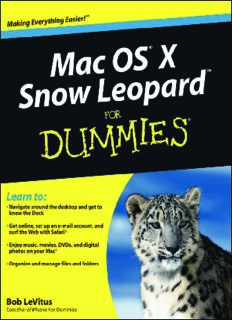 Mac OS X Snow Leopard For Dummies (For Dummies (Computer Tech))