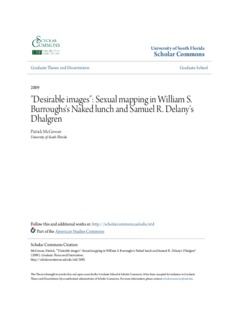 Sexual mapping in William S. Burroughs's Naked lunch and Samuel R. Delany's Dhalgren